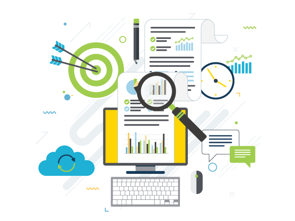 Marketing Consulting Infographic Illustration