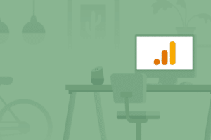 Google Analytics logo on background