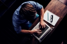 Man Searching on a computer